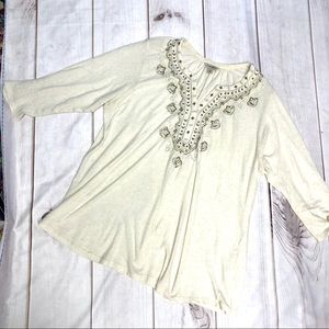 Free People Embroidered Top 1X